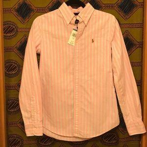 Women's Ralph Lauren collared shirt.